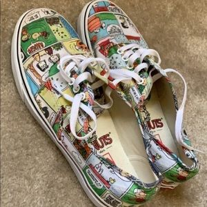 "Mens Multicolor ""Peanut"" Comics Vans Shoe Sz 10"